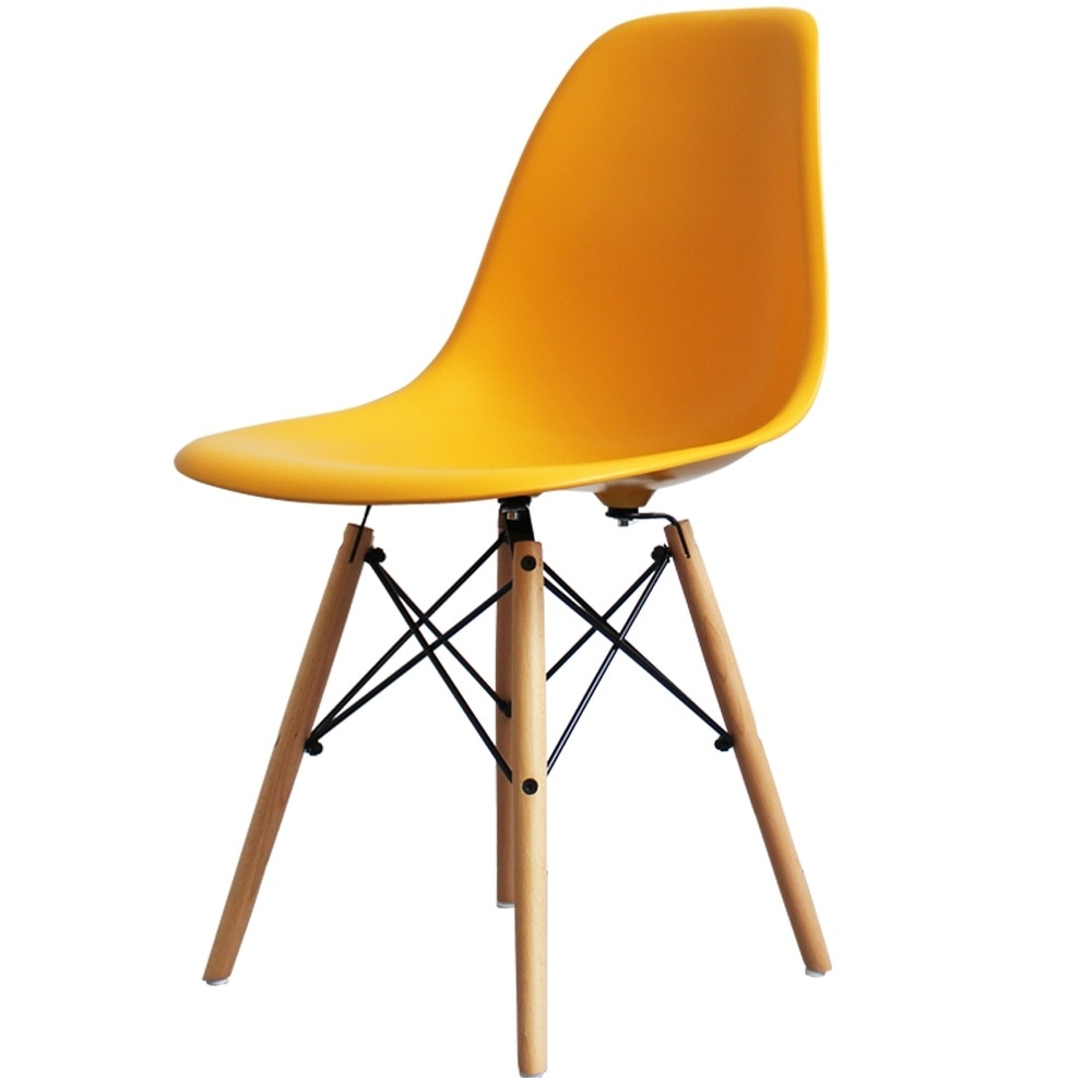 Buy eames style bright yellow chair retro eames style for Eames chair nachbau england