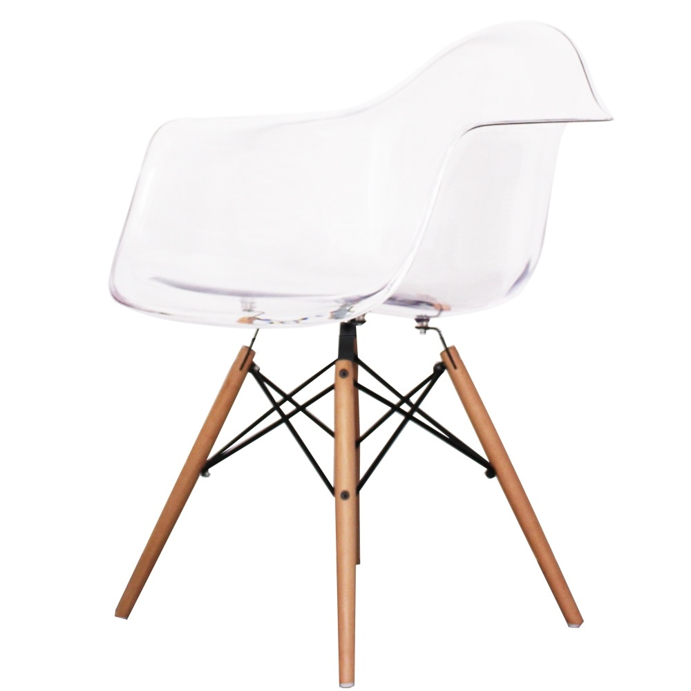 buy eames style clear plastic retro armchair from fusion living