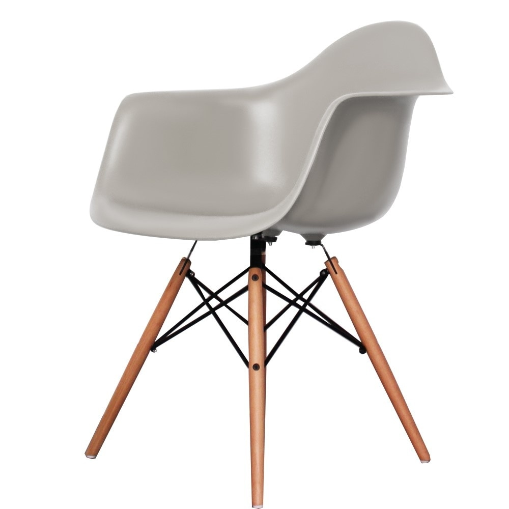 Style Cool Grey Plastic Retro Armchair available from ...