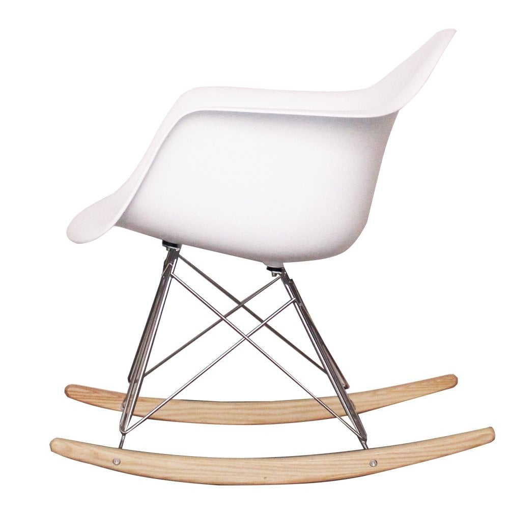 Charles Eames Style RAR Plastic Rocking Chair Blue Amazoncouk