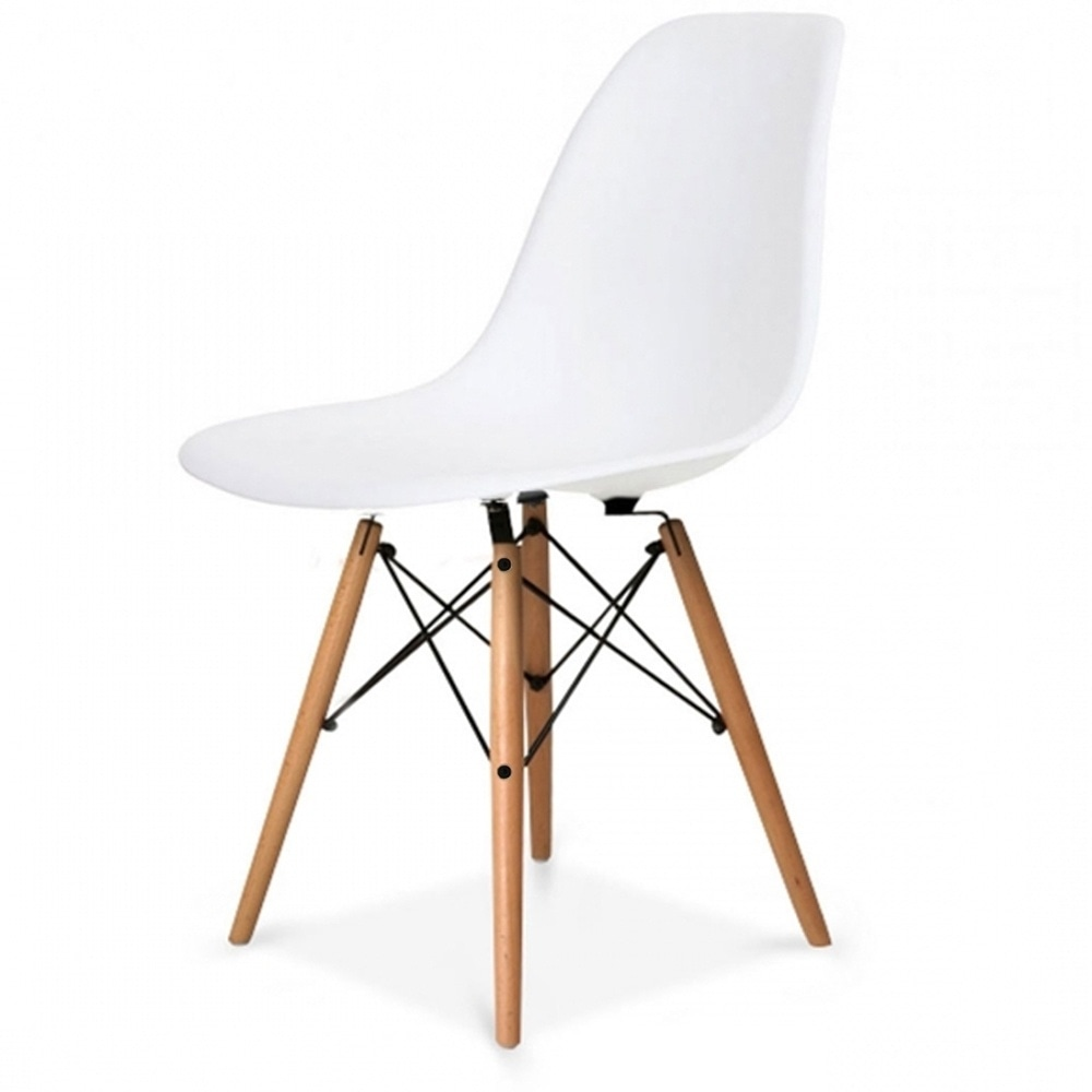 Buy Eames Style Cool White Retro Chair Buy Eames Chair  : charles eames style cool white plastic retro side chair p61 4013image from www.fusionliving.co.uk size 1000 x 1000 jpeg 28kB