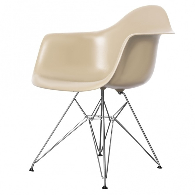 Style Eiffel Beige Plastic Retro Armchair available from ...
