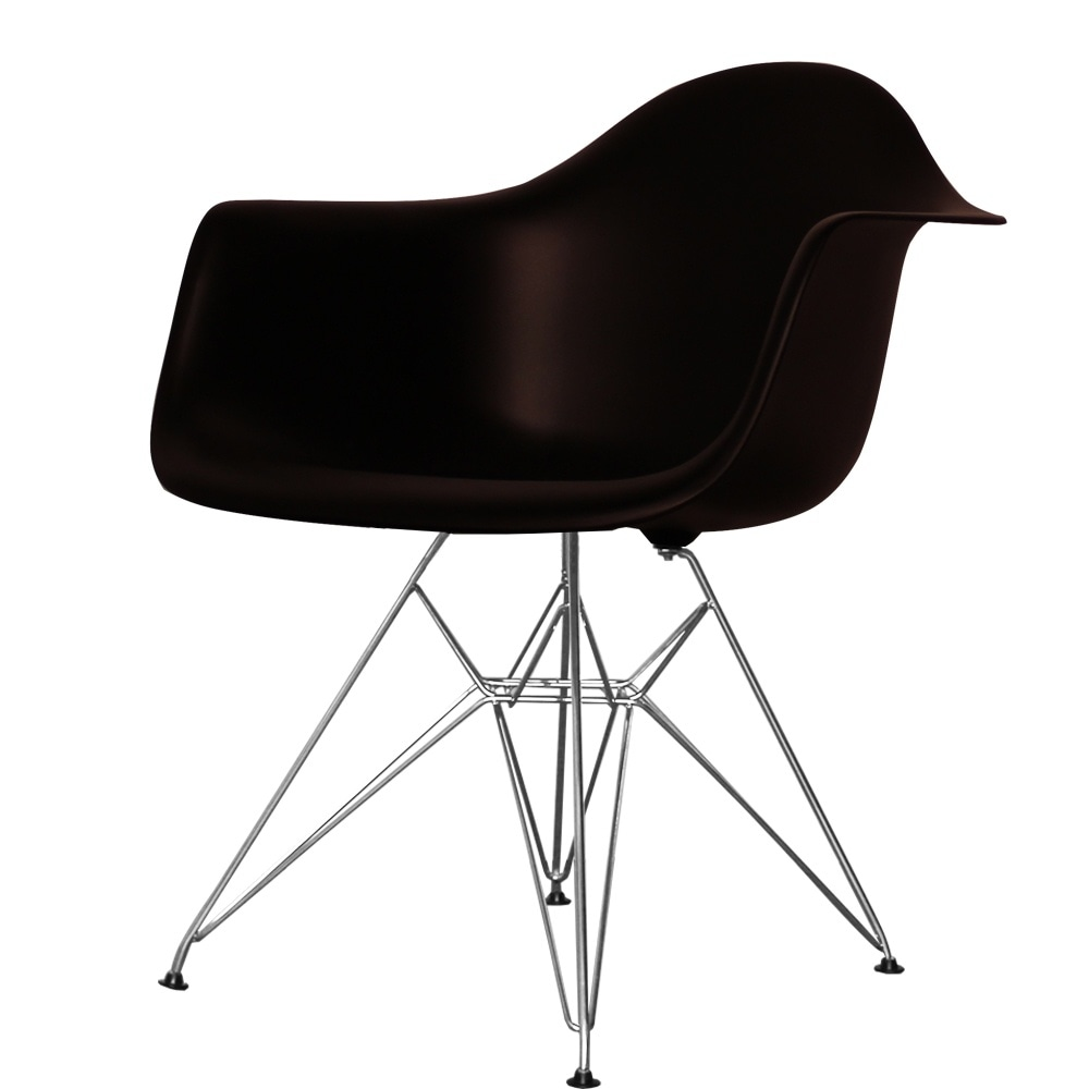 Style Eiffel Black Plastic Retro Armchair