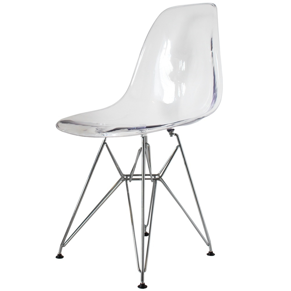 Buy eames style eiffel clear plastic side chair from for Eiffel chair de charles eames