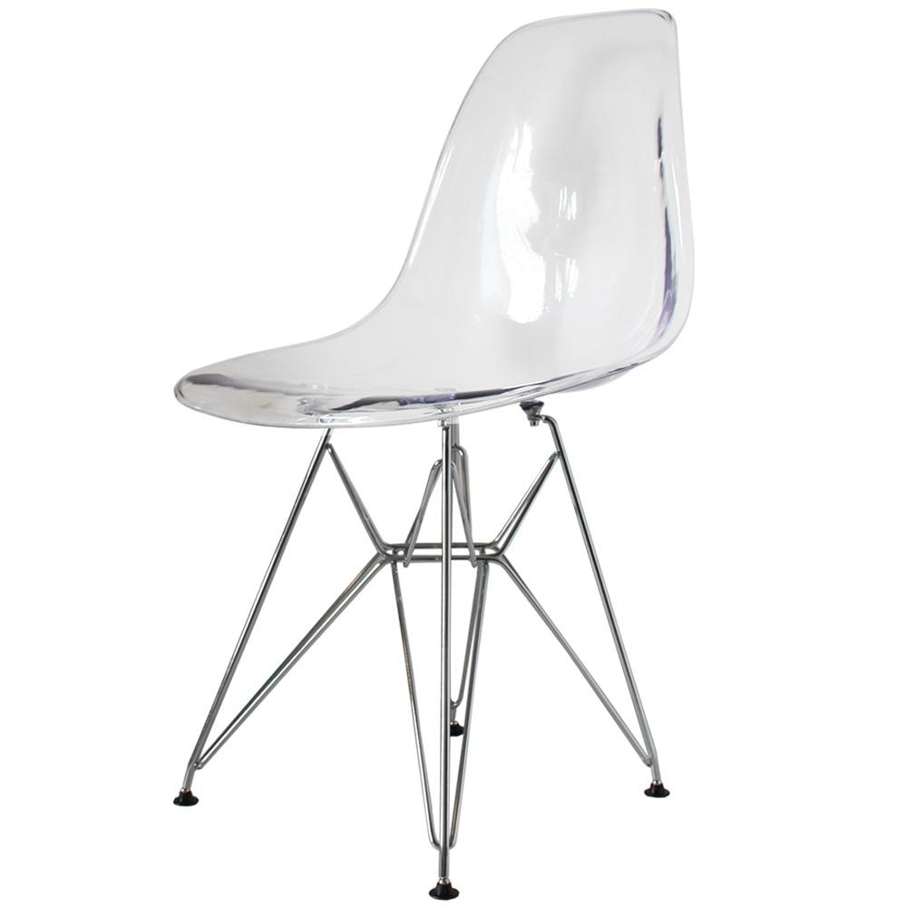 Style Eiffel Clear Plastic Retro Side Chair