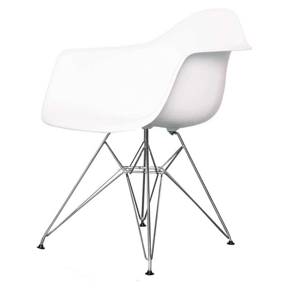 buy eames style eiffel cool white chair | retro white plastic chair