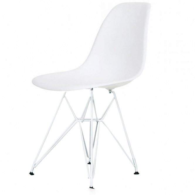 Astounding Style Eiffel Cool White Plastic Retro Side Chair White Legs Pabps2019 Chair Design Images Pabps2019Com