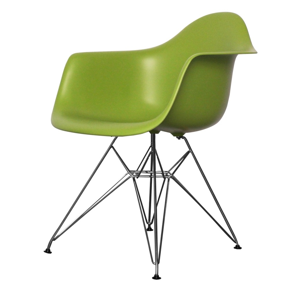 Style Eiffel Green Plastic Retro Armchair