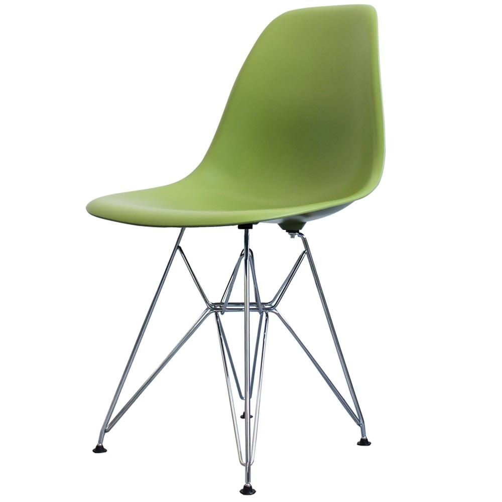 Style Eiffel Green Plastic Retro Side Chair