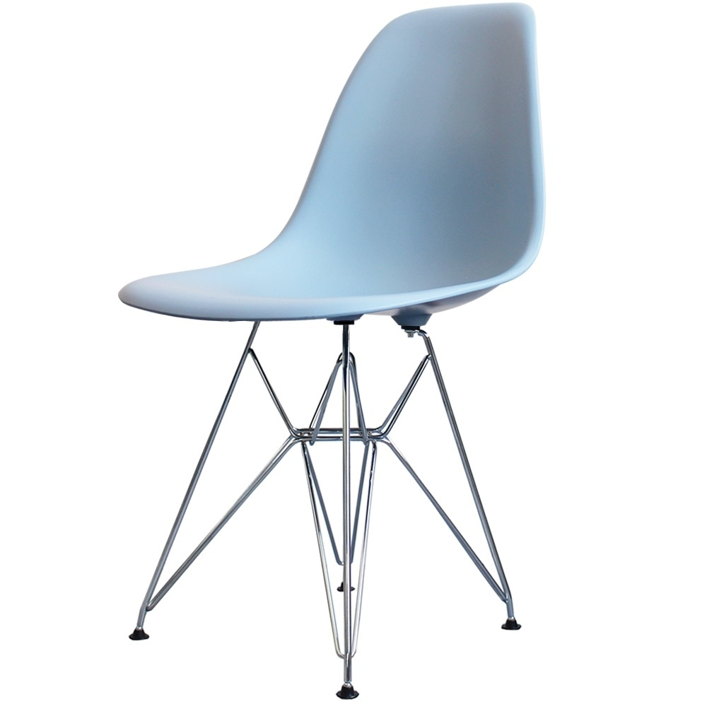 Style Eiffel Light Blue Plastic Retro Side Chair
