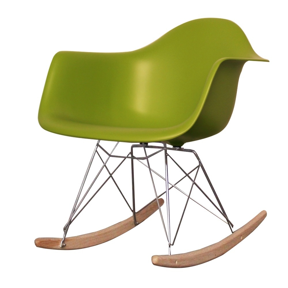 eames rocking chair green. style green plastic retro rocking chair eames