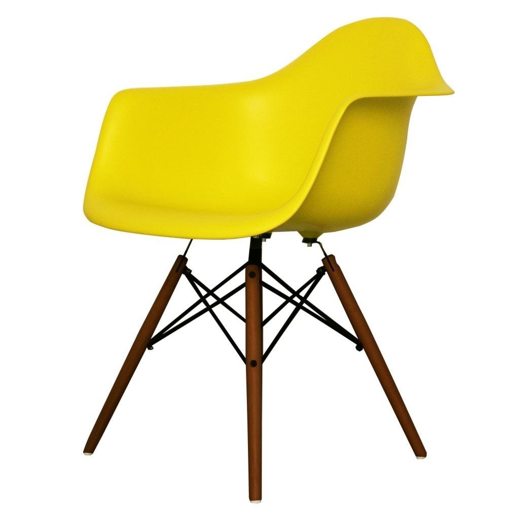 Buy Eames Style Lime Green Plastic Retro Armchair from ...