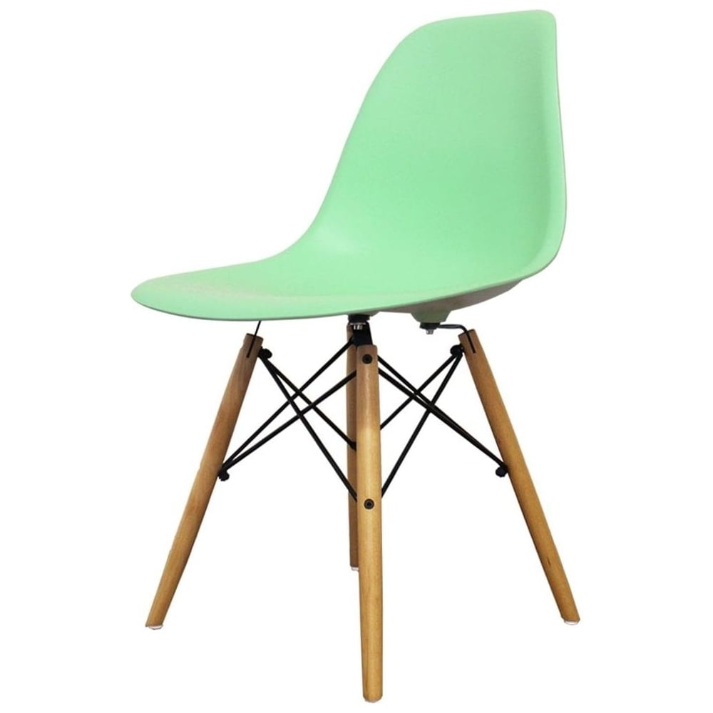 buy eames style peppermint plastic retro side chair from fusion living. Black Bedroom Furniture Sets. Home Design Ideas