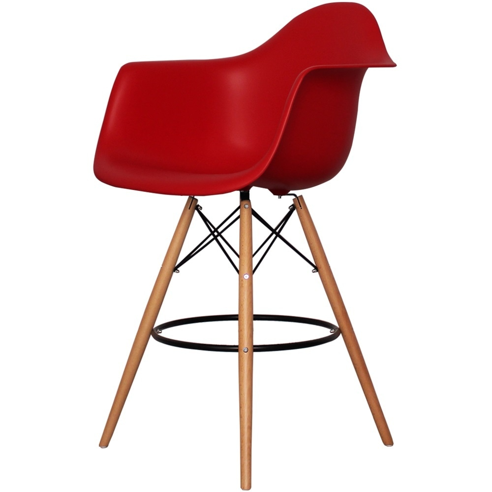 Buy This Red Plastic Bar Stool With Arms From Fusion