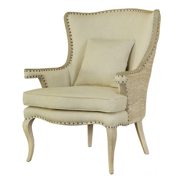 Buy Eden Den Classic Vintage Style Cream Armchair from ...
