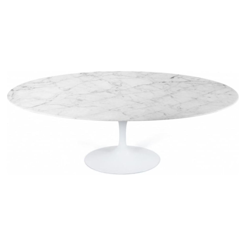 Perfect Marble Oval Tulip Style Dining Table