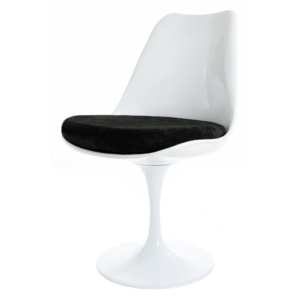 White And Luxurious Black Tulip Style Side Chair From