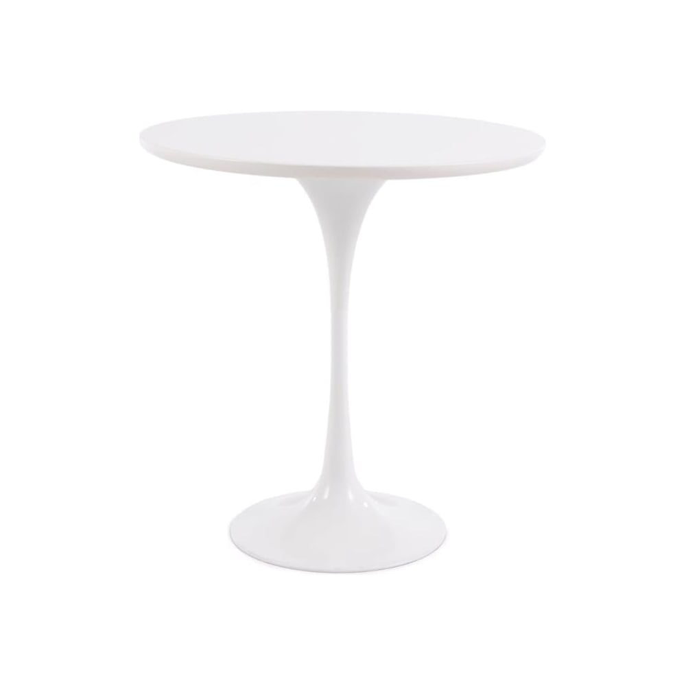White Tulip Style Circular Side Table
