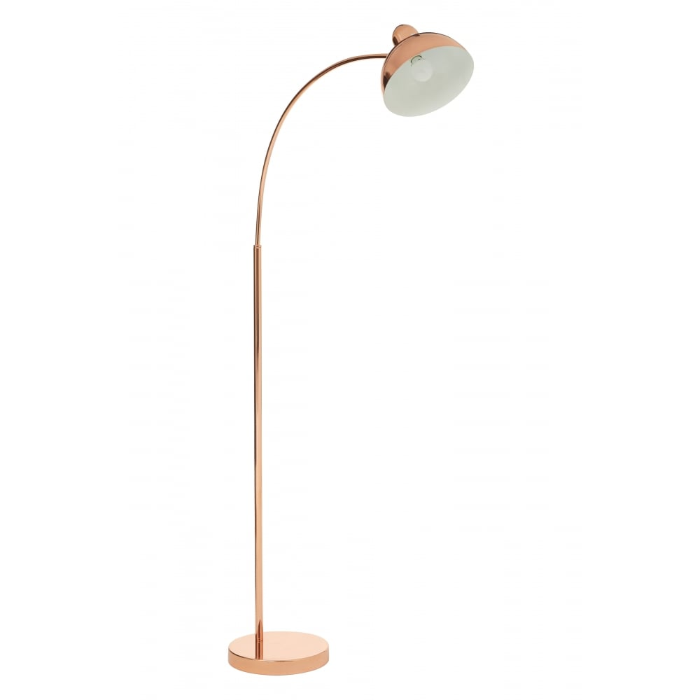 Arched Copper Floor Lamp Available From Fusion Living Online Today