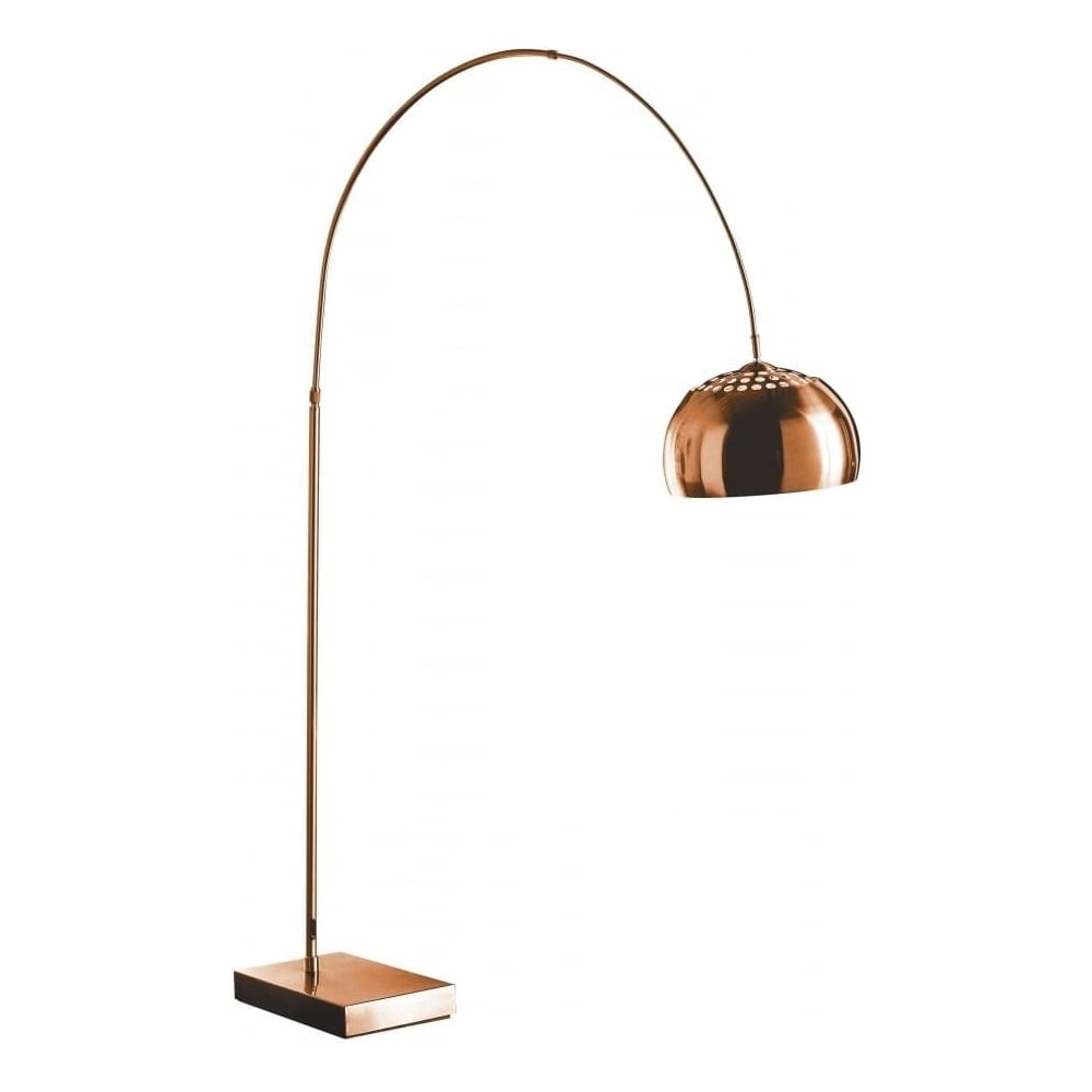 Buy arched copper floor standing lamp from fusion living online today arched copper floor standing lamp aloadofball Images