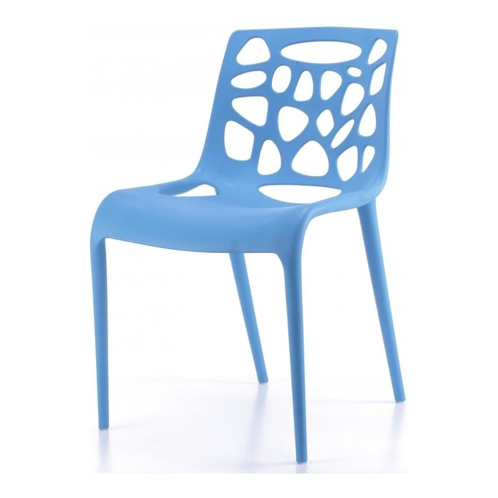 blue plastic funky designer dining chair from fusion living