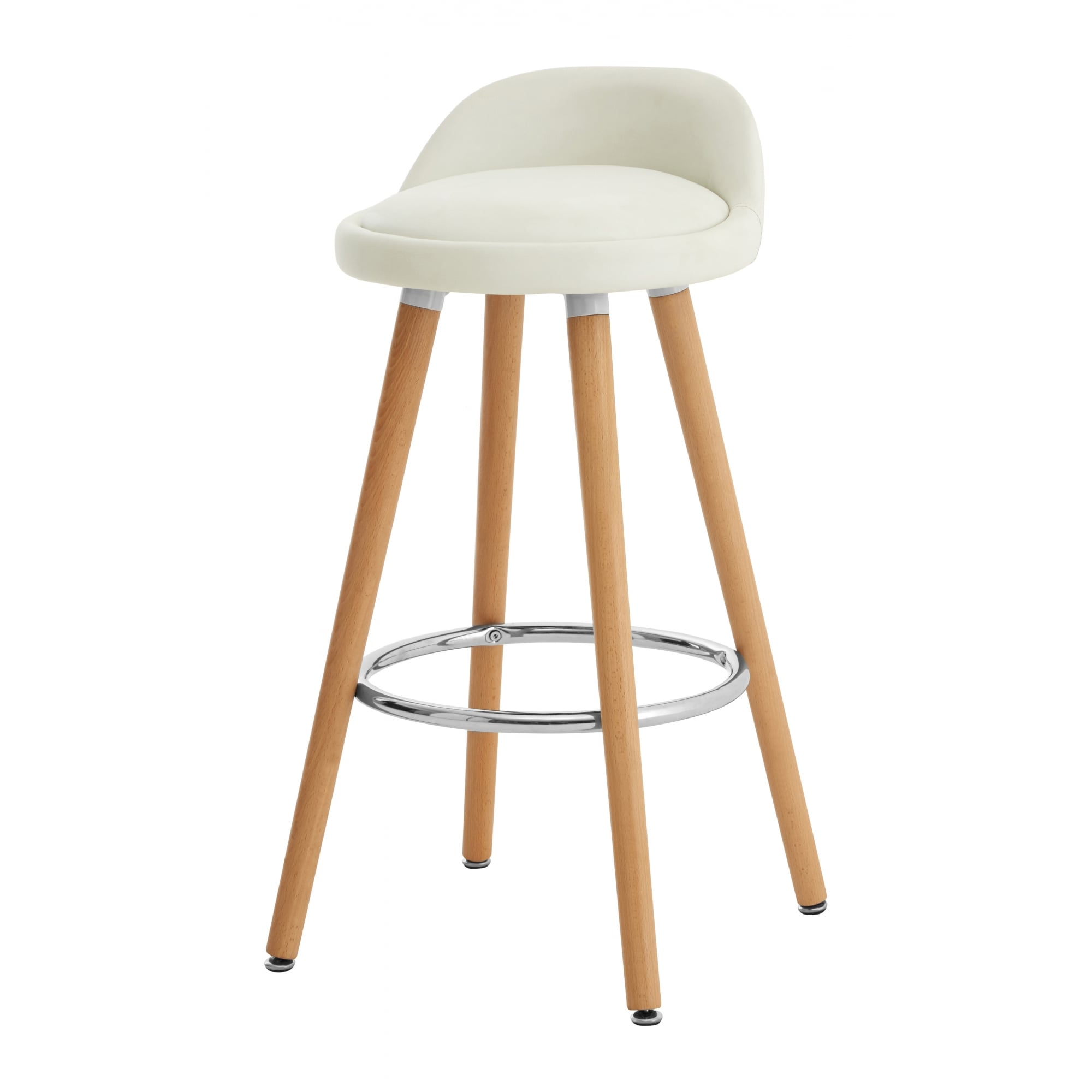 Picture of: Contemporary White Faux Leather Bar Stool Beech Legs At Fusion Living