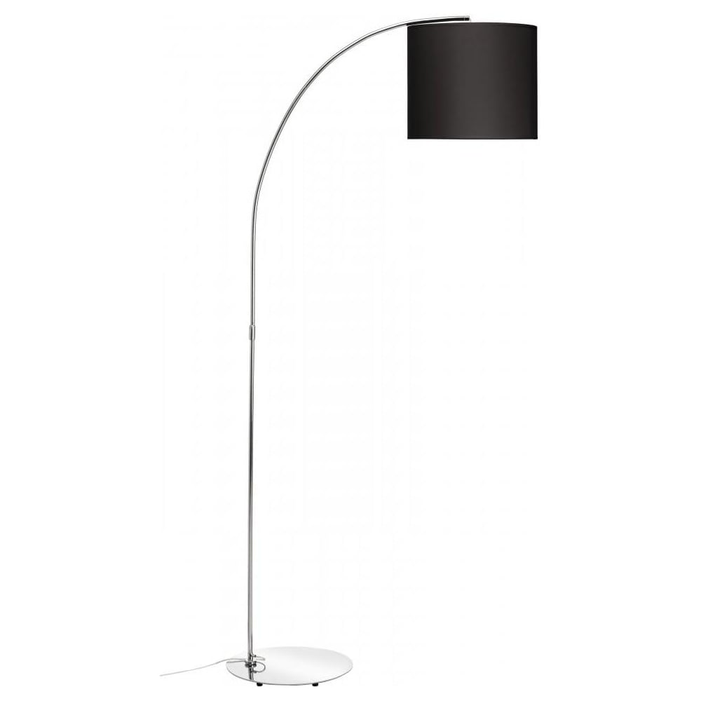 Buy curved chrome floor lamp with black shade buy curved floor lamp curved chrome floor standing lamp with black shade aloadofball Choice Image