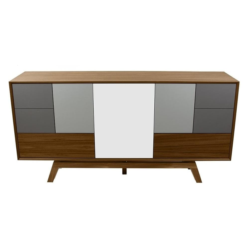 Buy Fusion Living Danish Large Walnut And Grey Sideboard