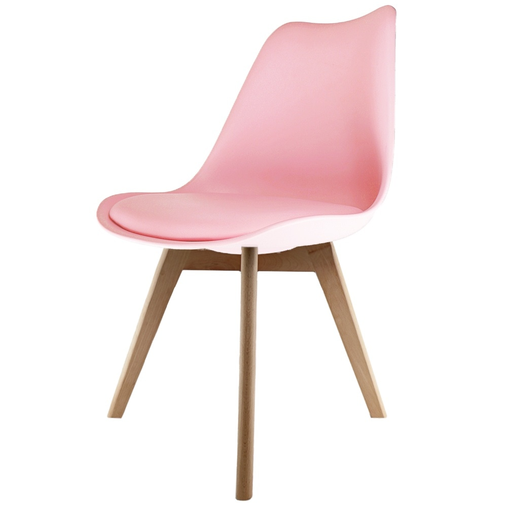 Fantastic Eiffel Inspired Blush Pink Plastic Dining Chair With Squared Light Wood Legs Dailytribune Chair Design For Home Dailytribuneorg