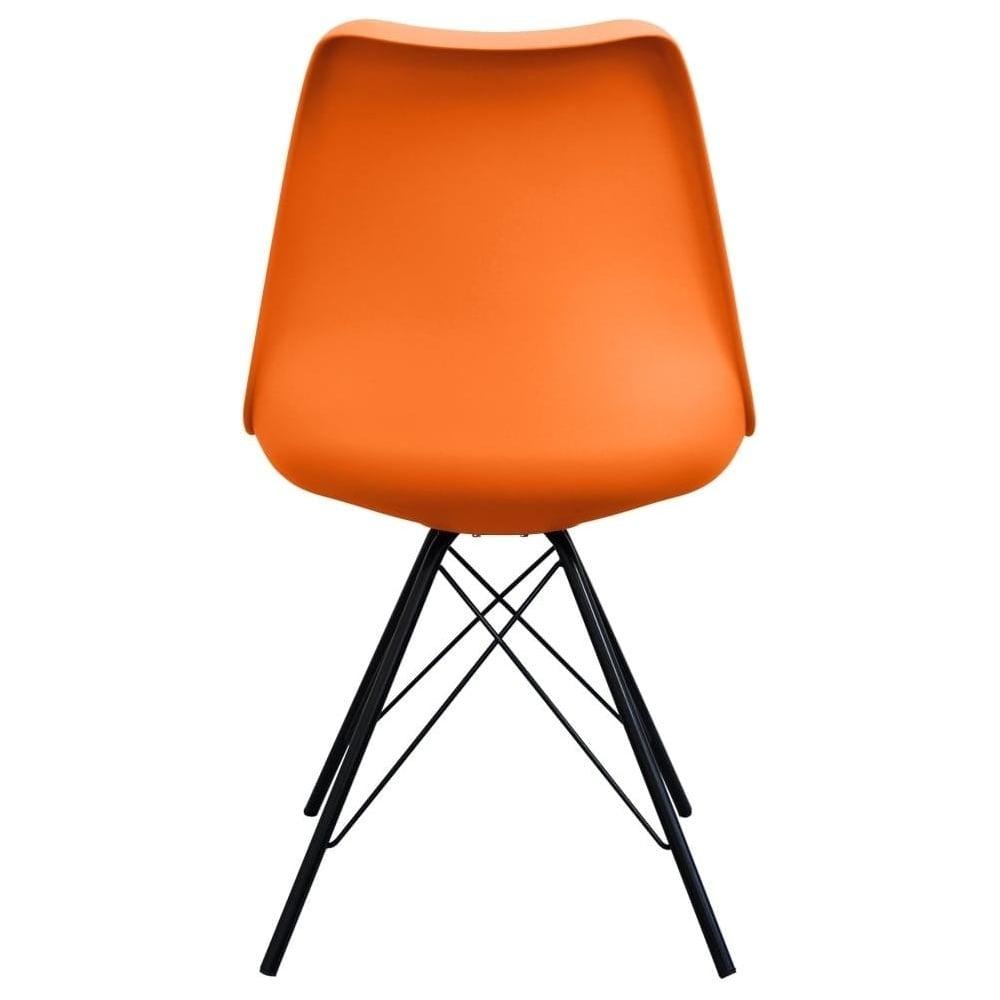 plastic metal chairs. Eiffel Inspired Orange Plastic Dining Chair With Black Metal Legs Chairs N