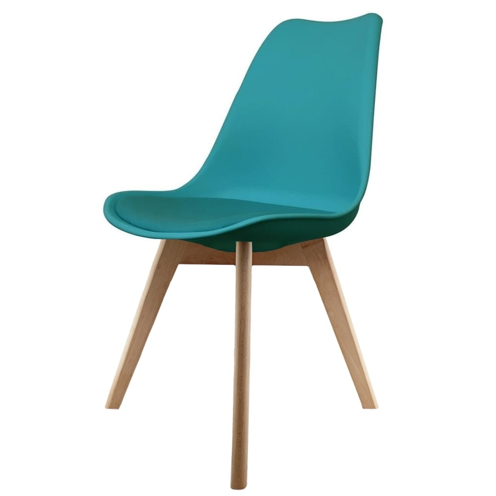 Eiffel Inspired Teal Plastic Dining Chair with Squared ...