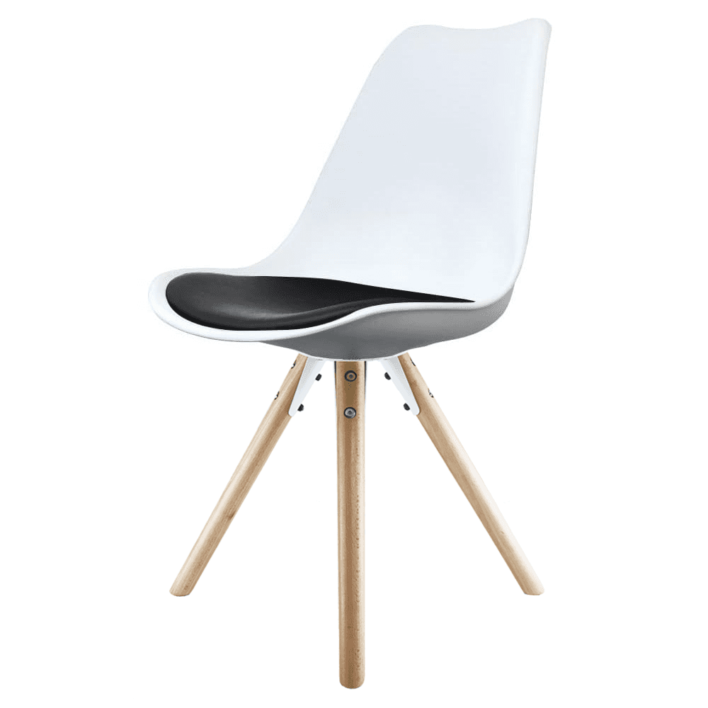 Black And White Dining Chair: Eiffel Inspired White & Black Dining Chair & Natural Beech