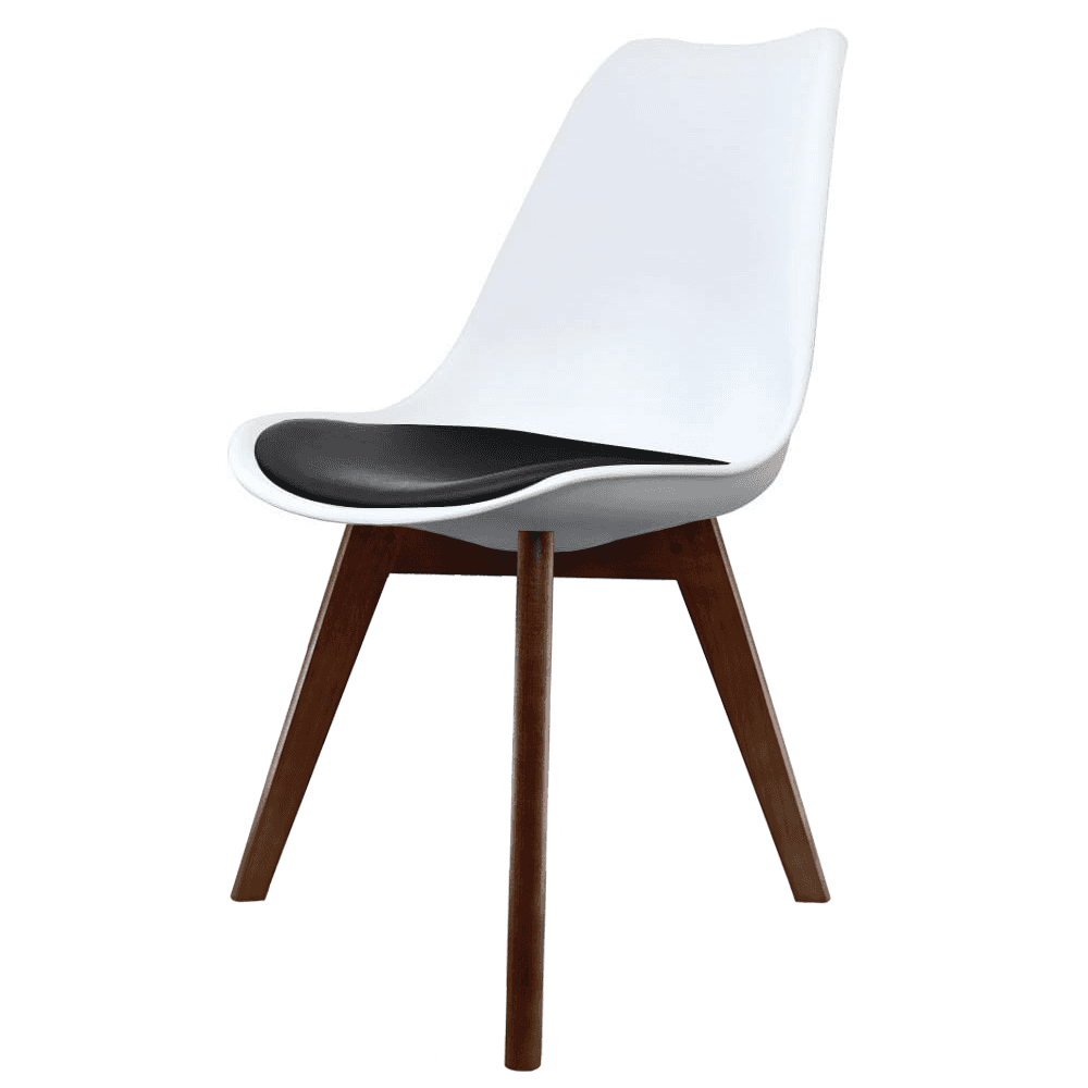 Eiffel Inspired White & Black Dining Chair With Squared
