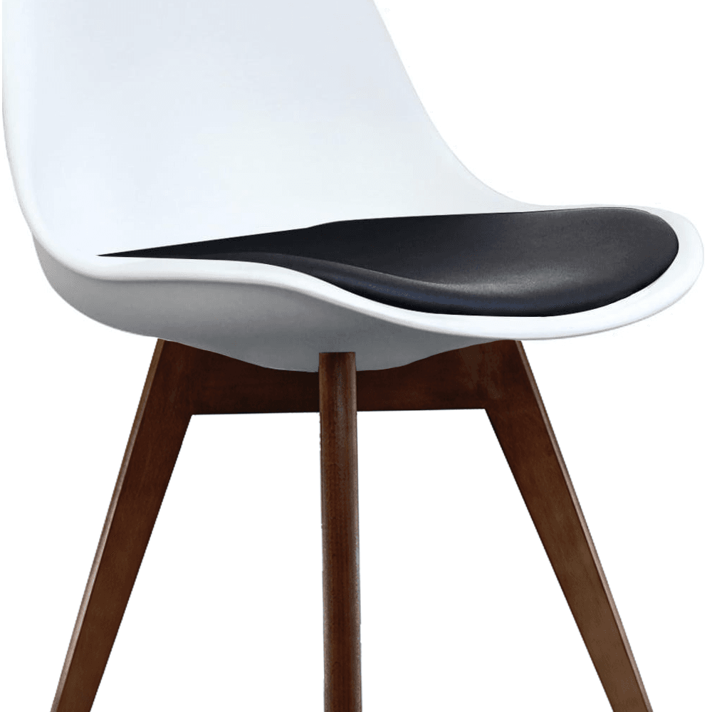 Cool Eiffel Inspired White And Black Dining Chair With Squared Dark Wood Legs Dailytribune Chair Design For Home Dailytribuneorg