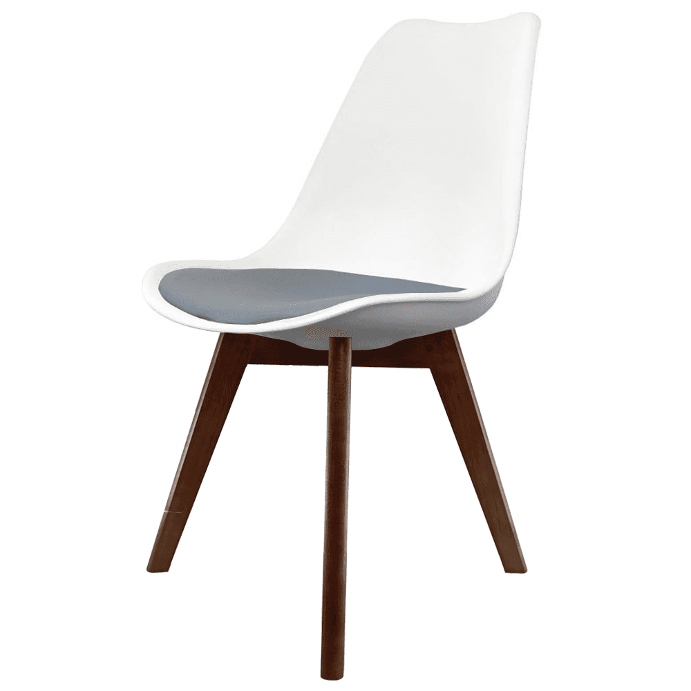 black wood dining chair. Eiffel Inspired White And Dark Grey Dining Chair With Squared Wood Legs Black U