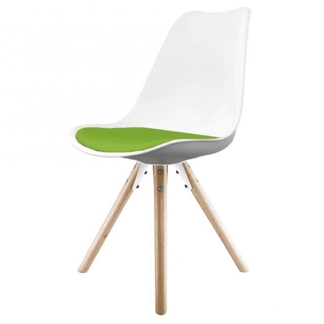Eiffel Inspired White Amp Green Dining Chair Amp Natural Beech