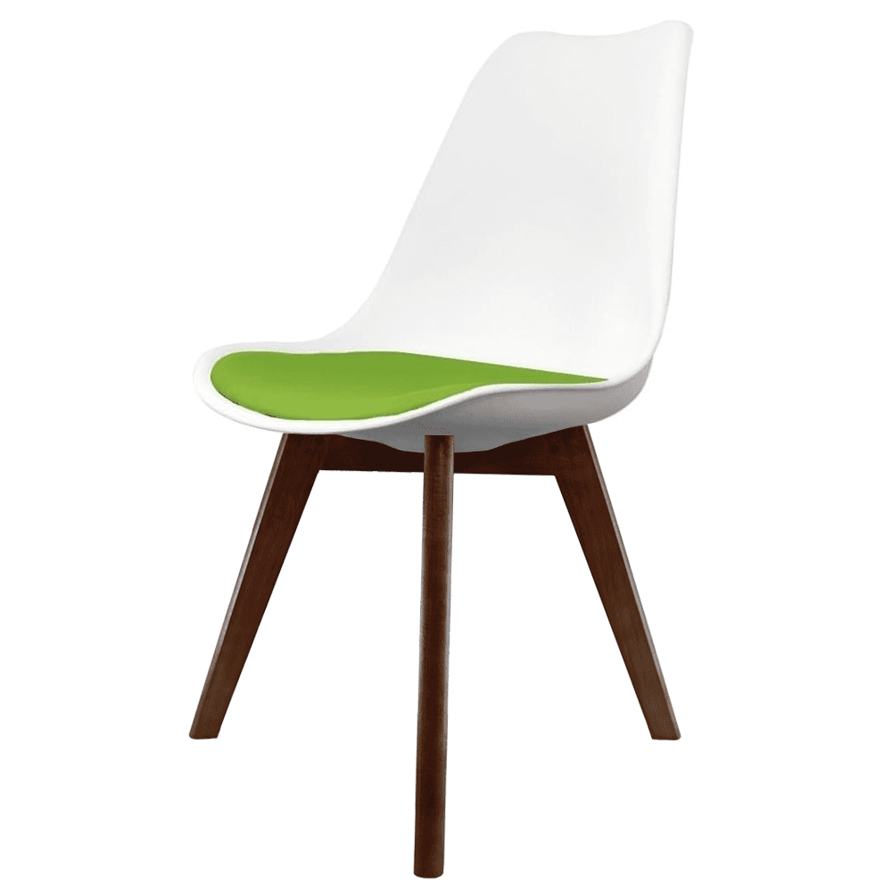 Admirable Eiffel Inspired White And Green Dining Chair With Squared Dark Wood Legs Dailytribune Chair Design For Home Dailytribuneorg