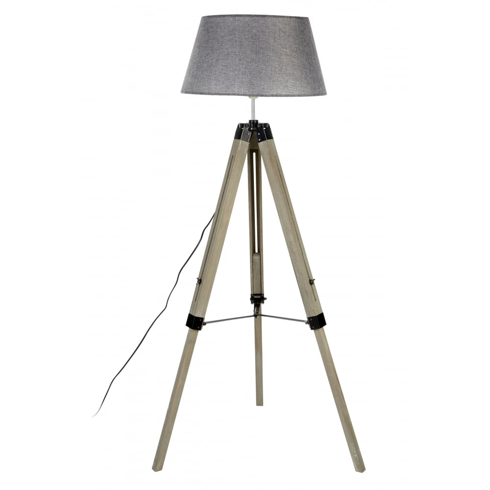 Grey contemporary tripod floor lamp available from fusion living grey contemporary tripod floor lamp aloadofball Gallery