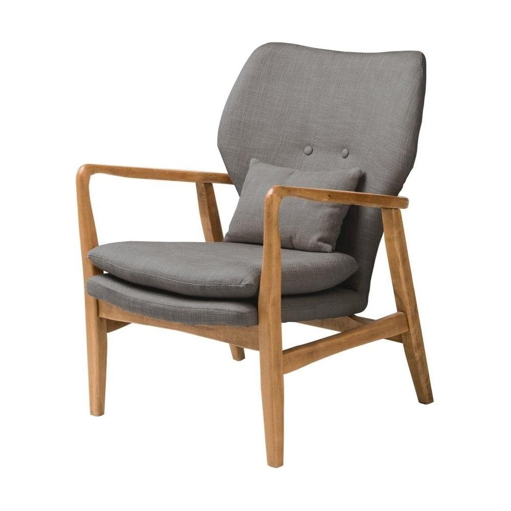 Grey Upholstered Mid Century Scandinavian Armchair