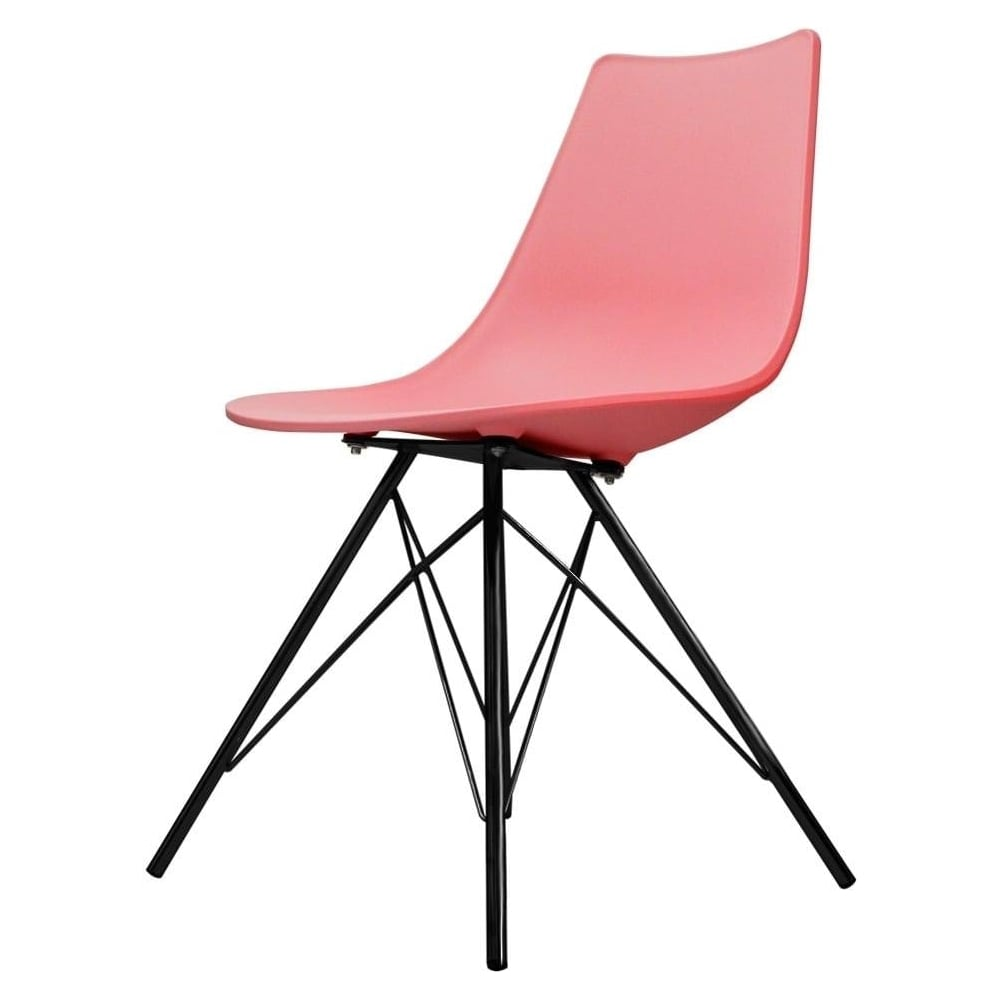 plastic metal chairs. Iconic Pink Plastic Dining Chair With Black Metal Legs Chairs W