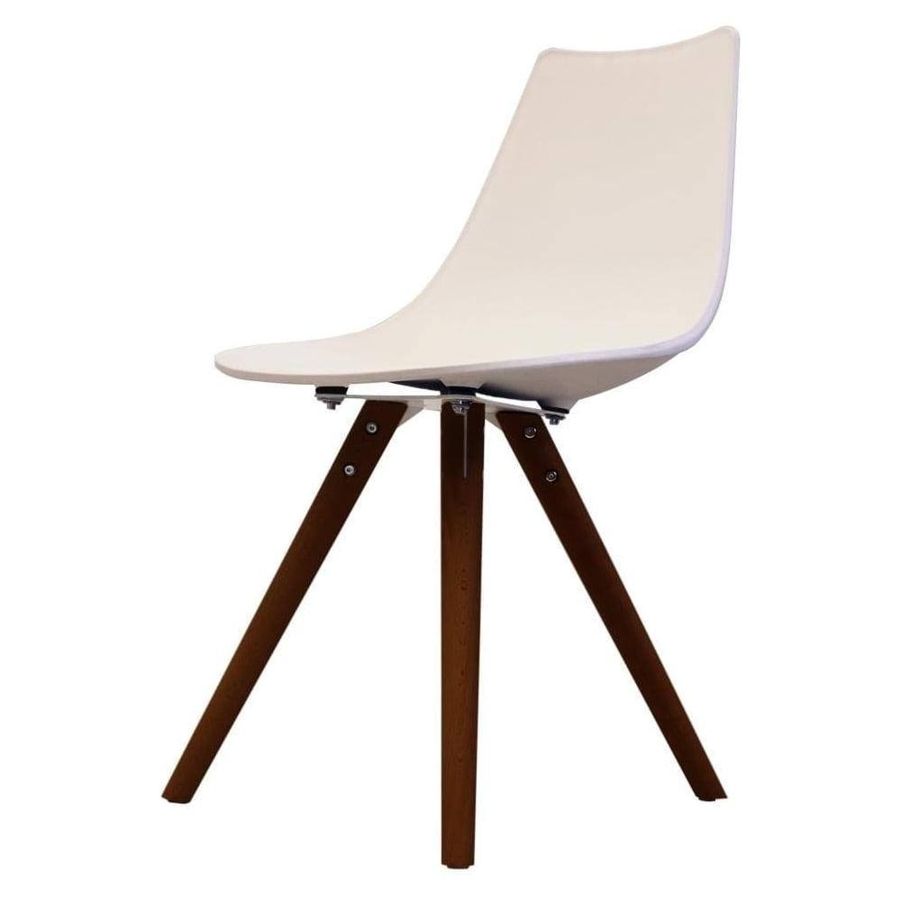 Peachy Iconic White Plastic Dining Chair With Dark Wood Legs Ibusinesslaw Wood Chair Design Ideas Ibusinesslaworg