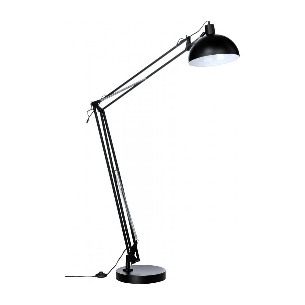 buy industrial style floor lamp industrial style floor lamp in black. Black Bedroom Furniture Sets. Home Design Ideas