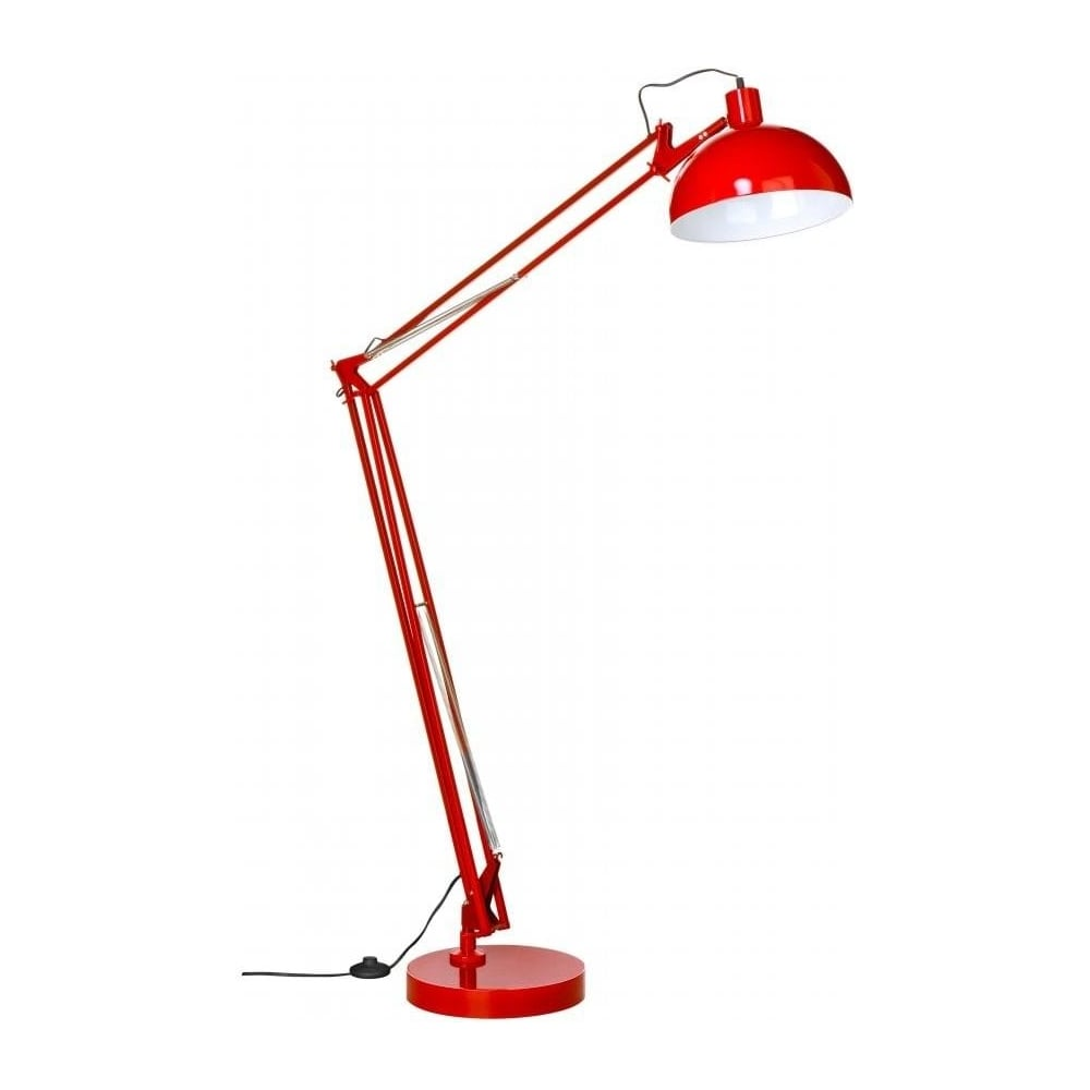 buy industrial style floor lamp industrial style lamp in red. Black Bedroom Furniture Sets. Home Design Ideas