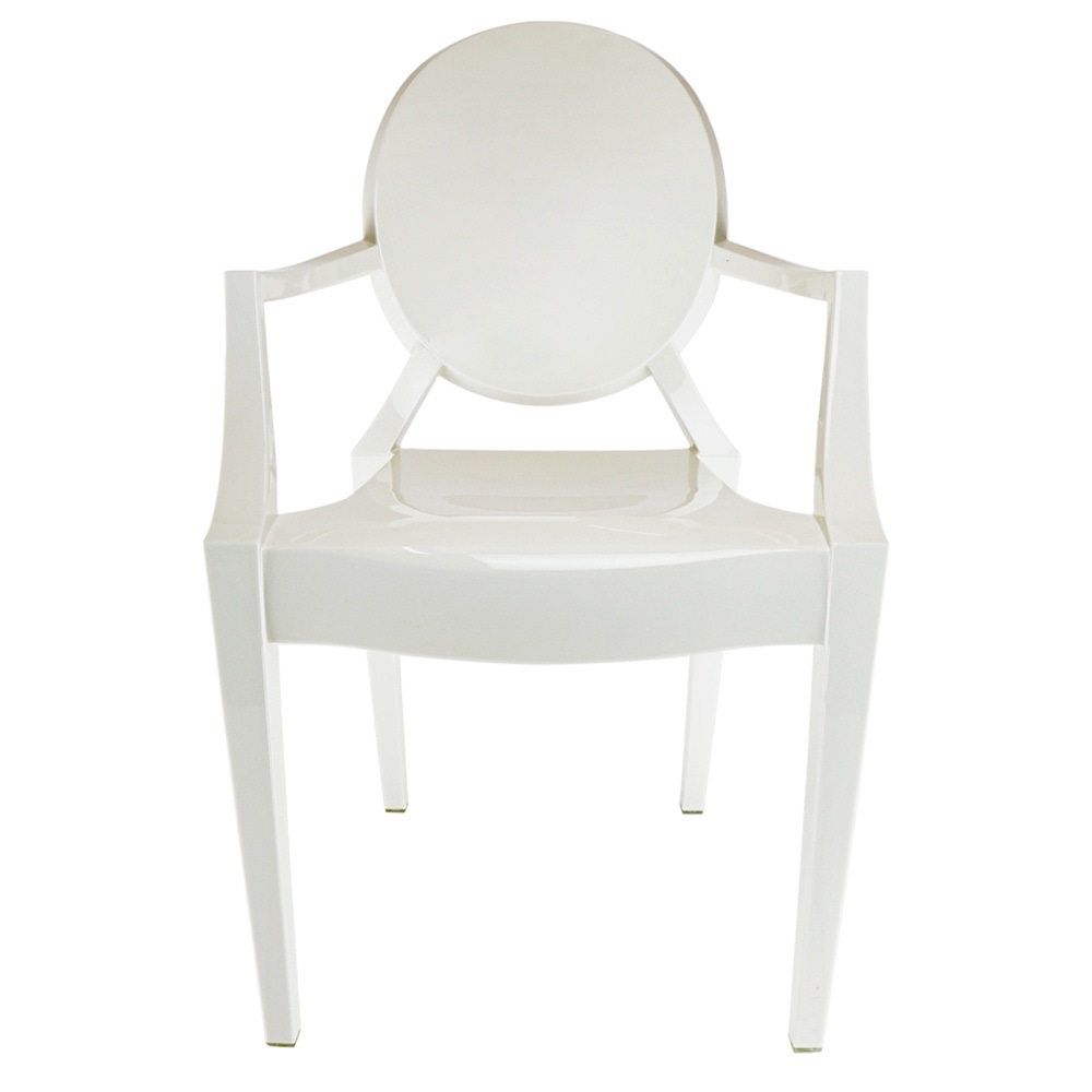 Brilliant Ivory White Ghost Style Plastic Louis Armchair Camellatalisay Diy Chair Ideas Camellatalisaycom