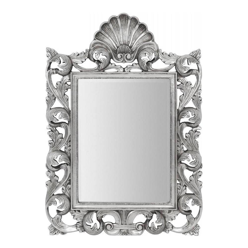 buy large silver ornate rectangular mirror from fusion livin