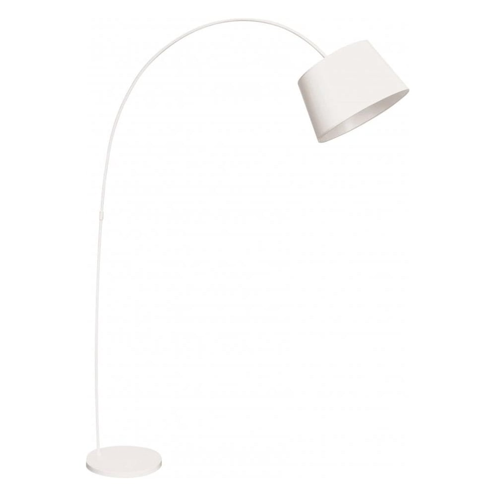 Buy Large White Metal Arched Floor Standing Lamp From Fusion Living