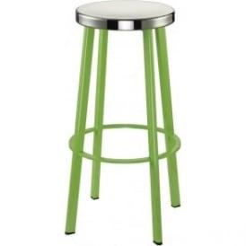 lime green metal bar stool with circular polished steel seat  sc 1 st  bolotbochkarev.com & Lime Green Bar Stools. . . Bonefish Bar Stool. 2 Lime Green Metal ... islam-shia.org