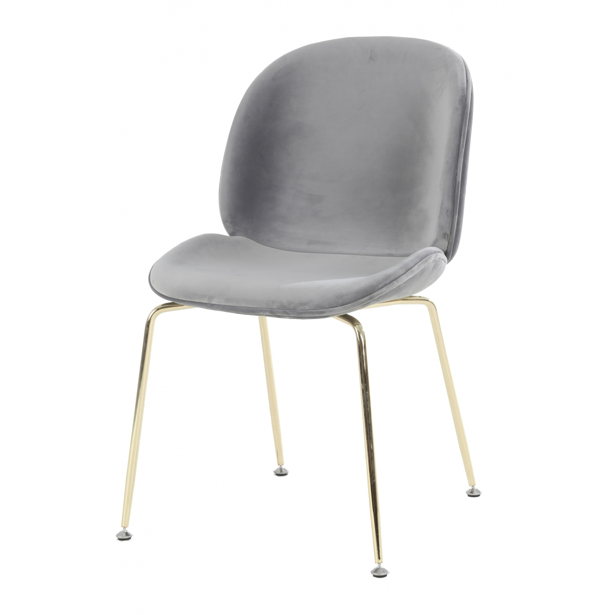Picture of: Luxurious Grey Velvet Dining Chair With Gold Metal Legs From Fusion
