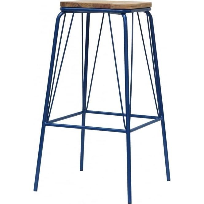 Buy Warehouse Style Solid Wood Amp Metal Bar Stool From