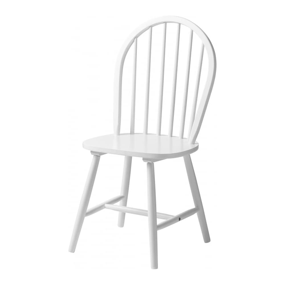 Fusion Living New England Style White Wood Dining Chair